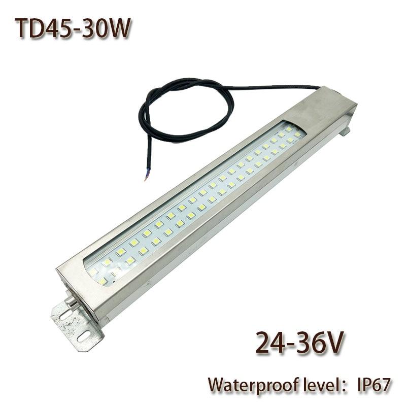 HNTD 30W Led Panel Light 24V/36V DC LED Metal work light CNC machine work tool lighting TD45 Waterproof IP67 Free shipping
