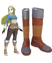 The Legend of Zelda Breath the Wild Princess Cosplay Boots Shoes Custom Made