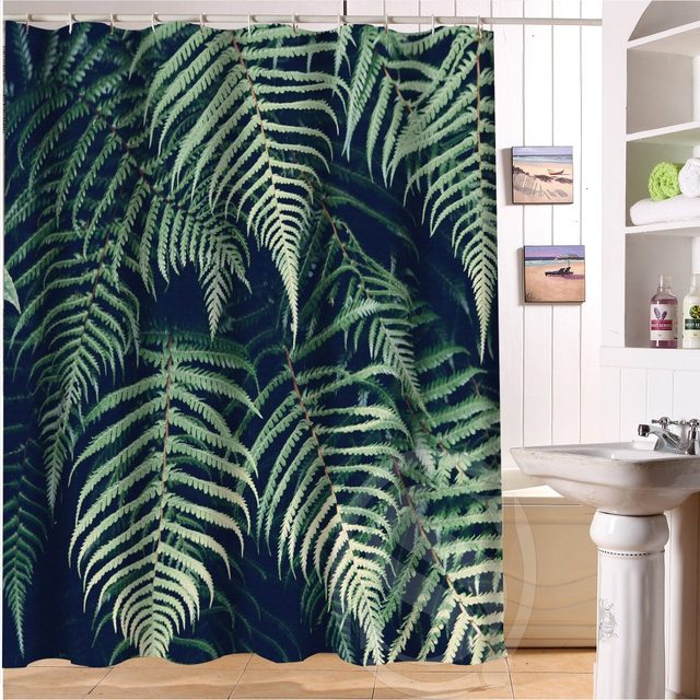 Jungle Foliage Custom Shower Curtain Bathroom Decor Fashion Design Free Shipping 36x72 48x72 60x72 66x72