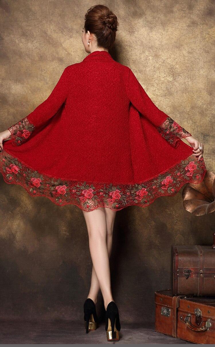 Invierno Mujeres Verano Mujer Bordado Ropa Encaje Dos Edad Vestido Negro Primavera Piezas Blusa Camisa De Mediana Clobee rojo 2018 8qnEw0a4ZZ