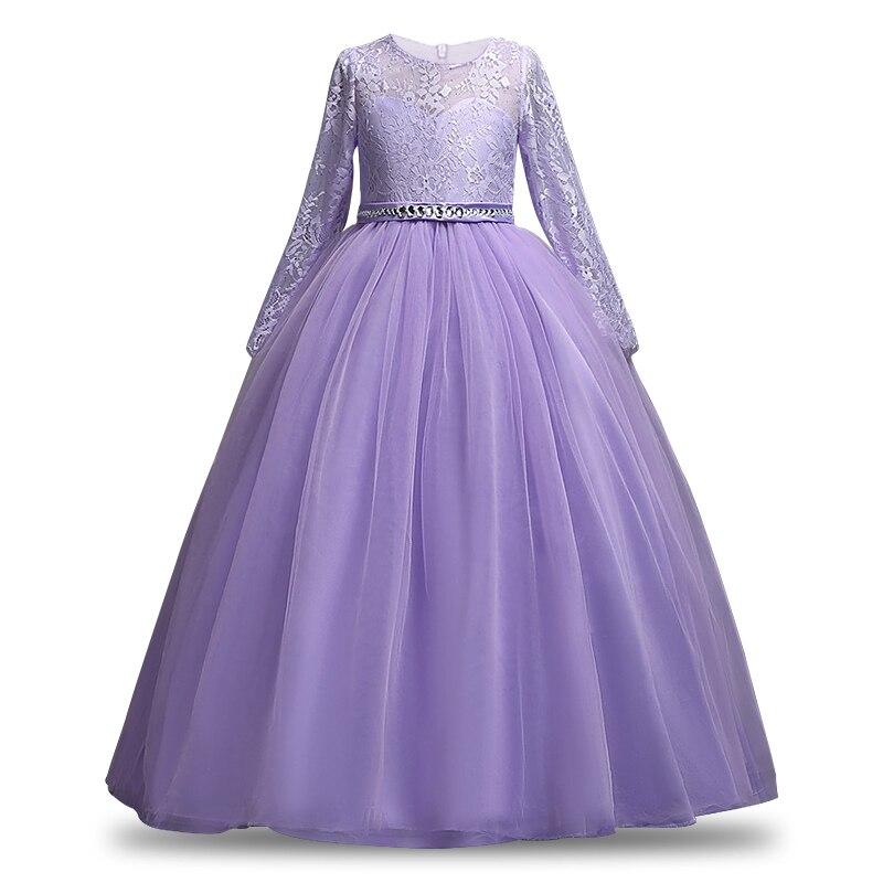 d090d2632 Vestido de boda de encaje sin hombros para niñas, vestido de primera  comunión para niñas