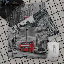 Yinuoda London Bus England Phone Retro Design Gamer Speed Mice Retail Small Rubber Mousepad Simple Design Speed Gaming Mouse Pad(China)