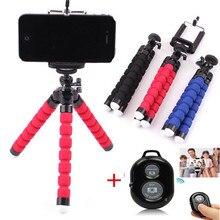 Phone Tripod Holder Flexible Sponge Octopus Tripod Stand Mount or Bluetooth Remote Shutter Selfie Stick Self-timer Bracket