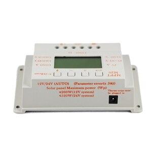 Image 5 - MPPT 20A LCD güneş enerjisi şarj cihazı 12 V 24 V Sıcaklık sensörlü ışık ve Zamanlayıcı Kontrolü Ev Aydınlatma Sistemi için Y SOLAR