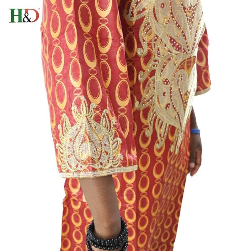 Gratis frakt 2017 nya afrikanska bazin riche klänning för kvinnor - Nationella kläder - Foto 3