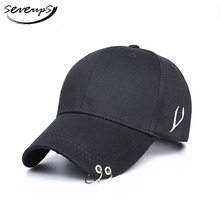 d0fcc7943b33e Seveups 2018 Men Black Snapback Hats With Rings Baseball Caps For Women  K-pop Rap