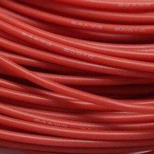 Image 2 - 5 metre Kırmızı + 5 metre Siyah Renk Silikon Tel 8AWG 10AWG 12AWG 14AWG 16AWG Isıya Dayanıklı Yumuşak Silikon Silika Jel tel Bağlantı Kablosu