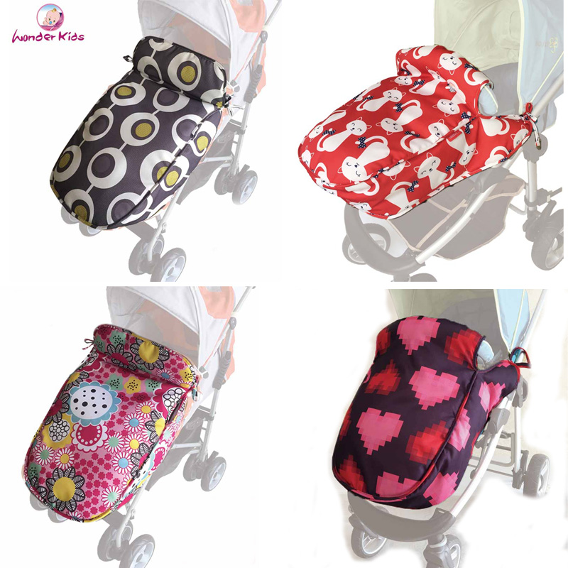 Wonderkids foot cover for baby stroller windproof universal socks children pushchair pram accessories buggy soft cotton warm