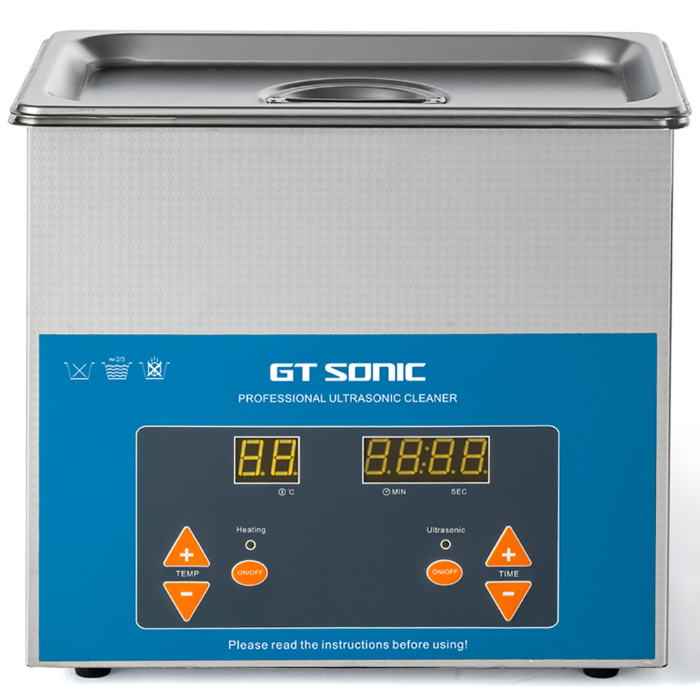 GTSONIC 3L Digital Ultrasonic Cleaner Bath Degas Ultrasound Cleaner Sonic Cleaner Parts Engine Cutters Carb Chain