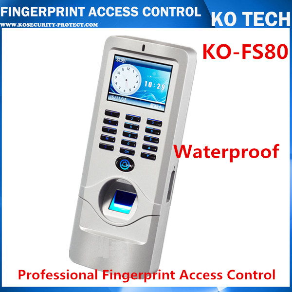 IP65 waterproof fingerprint reader biometric access control with Wiegand 26 RS485 time recorder with TCP/IP SOFTWARE f807 biometric fingerprint access control fingerprint reader password tcp ip software door access control terminal with 12 month