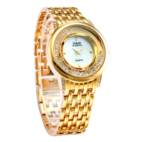 XG75 G D GLE VDO Womens Watches Golden Ladies Bracelet Watch Fashion Casual Quartz Wristwatches Relogio