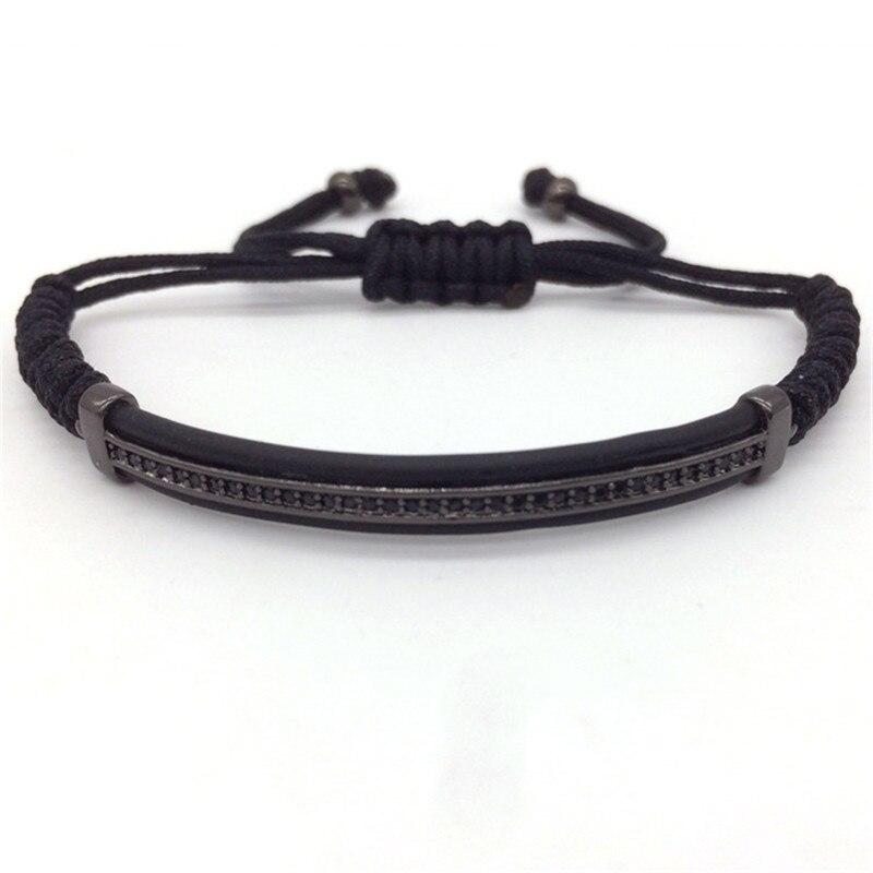 Prix pour Naiqube 2017 célèbre marque hommes bracelets et bracelets micro pave cz perles en cuir bracelets pour hommes femmes haute qualité cadeaux