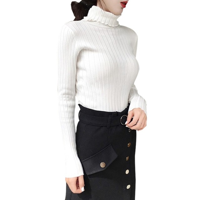 Apricot Soft Sweater For Women Turtleneck Thin Pattern Sweaters And Pullovers Tricot Pull Femme Tops Jersey Jumpers 5
