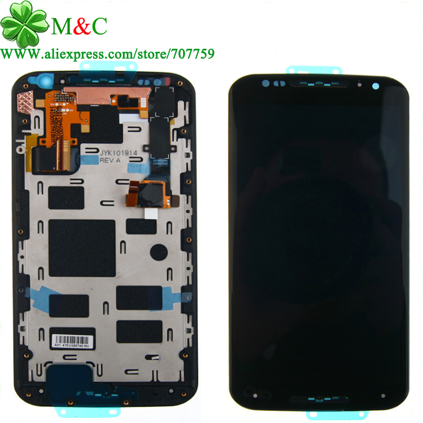 ФОТО X X+1 LCD Display Touch Screen With Frame Assembly For Motorola MOTO X XT1052 XT1056 & For Moto X2 xt1097 XT1092 XT1095