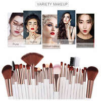 Fashion 25pcs Make Up Brushes Cosmetic Makeup Brush Blusher Eye Shadow Brushes Set Kit Professional Pincel Maquiagem New Eye Shadow Applicator