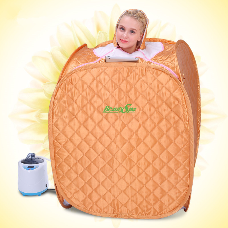 Portable Folding Home Therapeutic Steam Sauna Room Full Body Loss Weight Fumigation Massage Machine with 2.0L steamer
