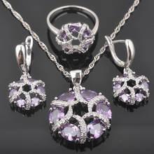 Фиолетовый с украшением в виде кристаллов; Женские свадебные