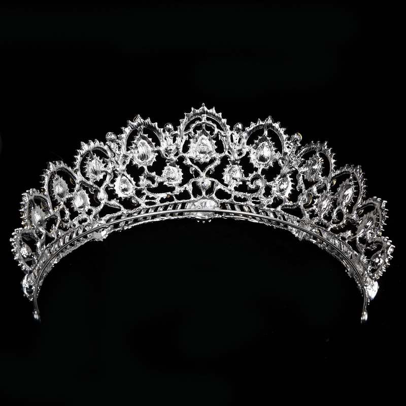 Vintage Tiara Rhinestone Crown Wedding Hair Accessories