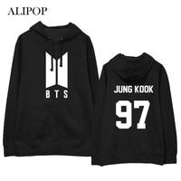 ALIPOP Kpop BTS Bangtan Boys ARMY Love Yourself Album Hoodie With Hat Hoodies Pullover Printed Long