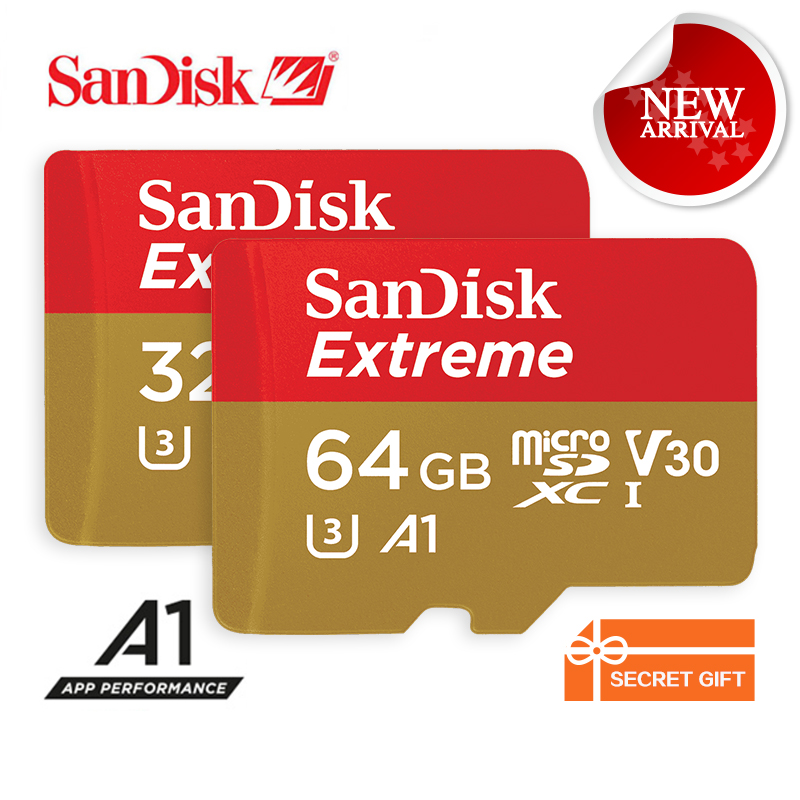 SanDisk Memory Card Extreme microSD UHS-I microSDHC/microSDXC Trans Flash Card Class10 U3 100MB/s 16GB 32GB 64GB TF Card SDSQXNE 100% original sandisk microsd memory card 256gb 100mb s uhs i micro sd card class10 ultra microsdxc flash memory tf card