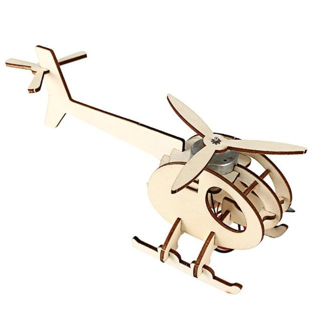 DIY Mini Solar Plane Assembled Toy Kids Handmade Science Experiment Interesting Invention Educational Toy Plane for Kids Gift 2