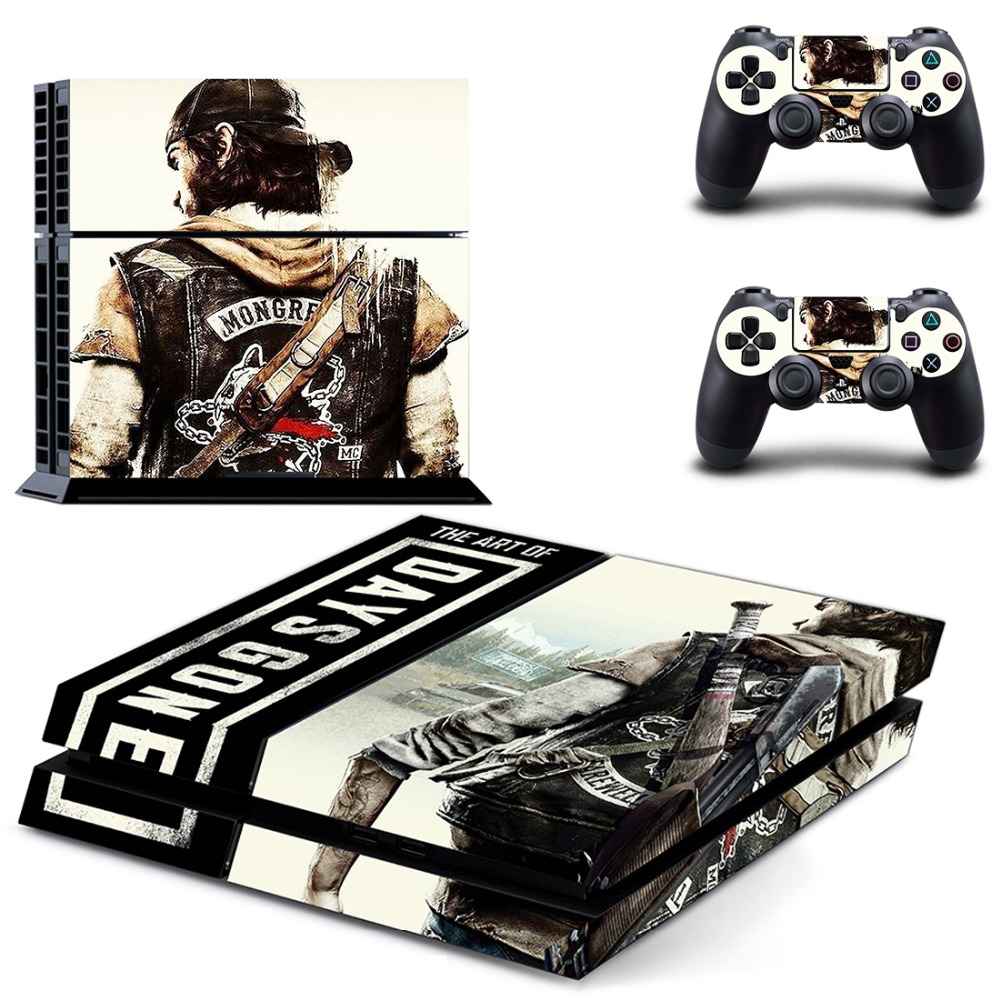 Game Days Gone PS4 Skin Sticker Decal for PlayStation 4 for Dualshock 4 Console and 2 Controller Skin PS4 Sticker Vinyl