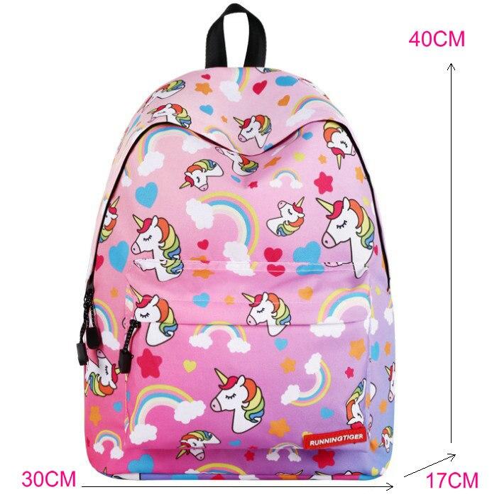 Unicorn 3D Printed Casual School Backpack Women Set 8