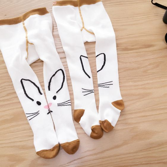 New Korea style Cartoon rabbit Baby Girl Tights Cotton Cute Children Stocking Baby Pantyhose For Kid 0-3Years alilo g6 cute rabbit style children s english song