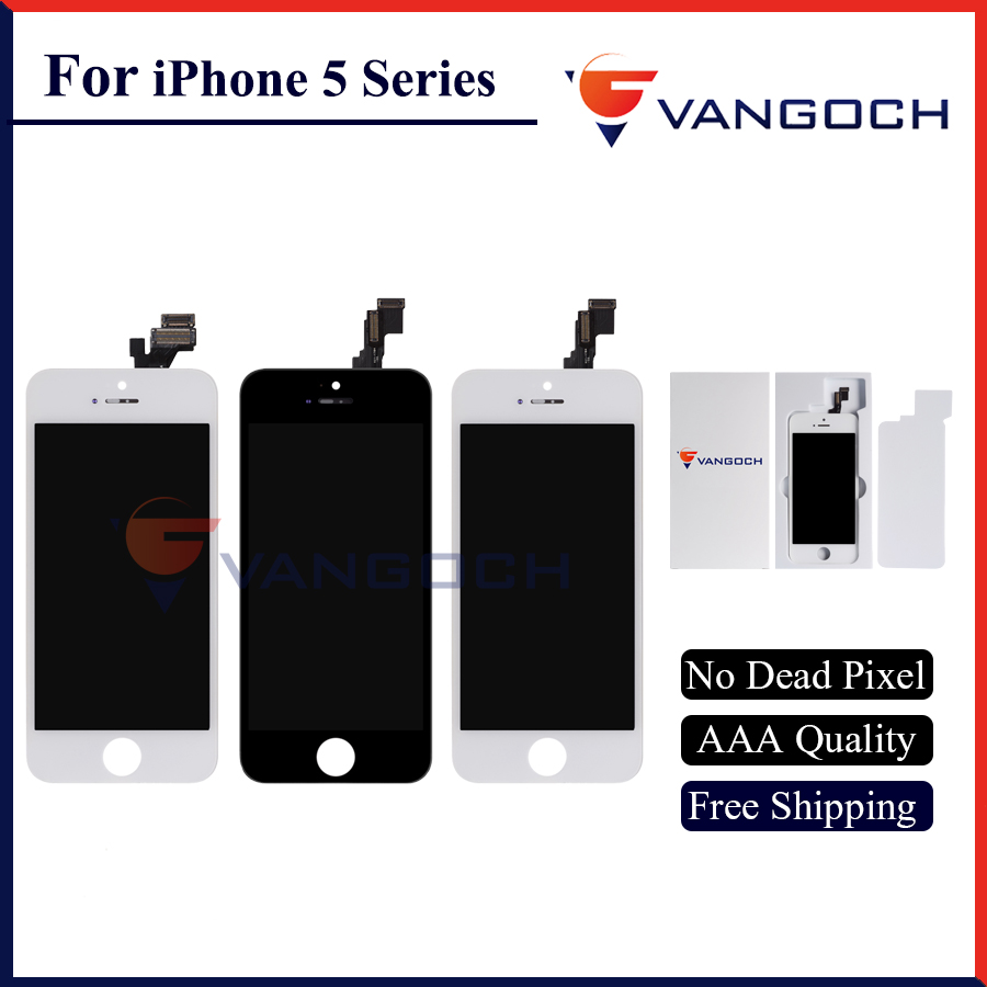 3PCS AAA Quality No Dead Pixel Display for iPhone 5 5g 5c 5s LCD Replacement with Assembly Touch Screen Free Shipping for yamaha mt07 fz07 mt 07 fz 07 2014 2015 motorcycle cnc billet aluminum front fork cover caps free shipping