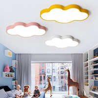 White/Pink/Bule/Yellow Color Modern Led ceiling Lights for kids room bedroom children room 90 265V cloud shape ceiling lamp