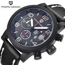 Военные Часы Мужчины Luxury Brand Спорт Кварцевые Часы Мужчины Водонепроницаемый Хронограф Часы Из Натуральной Кожи Армия Часы Мужчины Часы