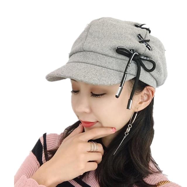 c08cc13f7a3 Newsboy Cap Beret Female Male Flat Cap Autumn Winter Hats For Women Men  Octagonal Cap Painter