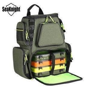 Image 5 - SeaKnight SK004 sac de pêche en plein air grande capacité 25L multifonctionnel 41*44*20cm sac à dos de pêche 1000D Nylon