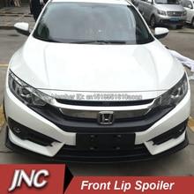 Car Styling Front Lip Spoilers For Honda Civic 2015 PP Plastic Front Bumper Spoiler Matt Black Front Lip Chin Spoiler For Civic