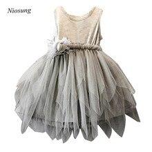 Niosung Cute Girls Flower Kids Toddler Baby Princess Sleeveless Party Pageant Wedding Tulle Tutu Dresses