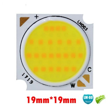 5PCS 19mm COB 12C2B 45W 36-38V CPS dual color RA CRI 80 High power lamp beads piezas brillante led watts lente blanco perlas