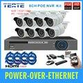 TEATE Kit Sistema de Vigilância 8CH 1080 P NVR POE 1.3MP 960 P ONVIF p2p Câmera IP CCTV Sistema De 8 Canais 48 V Sistema De Segurança Real