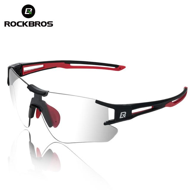 ROCKBROS Photochromic Cycling Glasses Bicycle Glasses Sports Mens Sunglasses MTB Road Bike Eyewear Protection Goggles 3 Colors