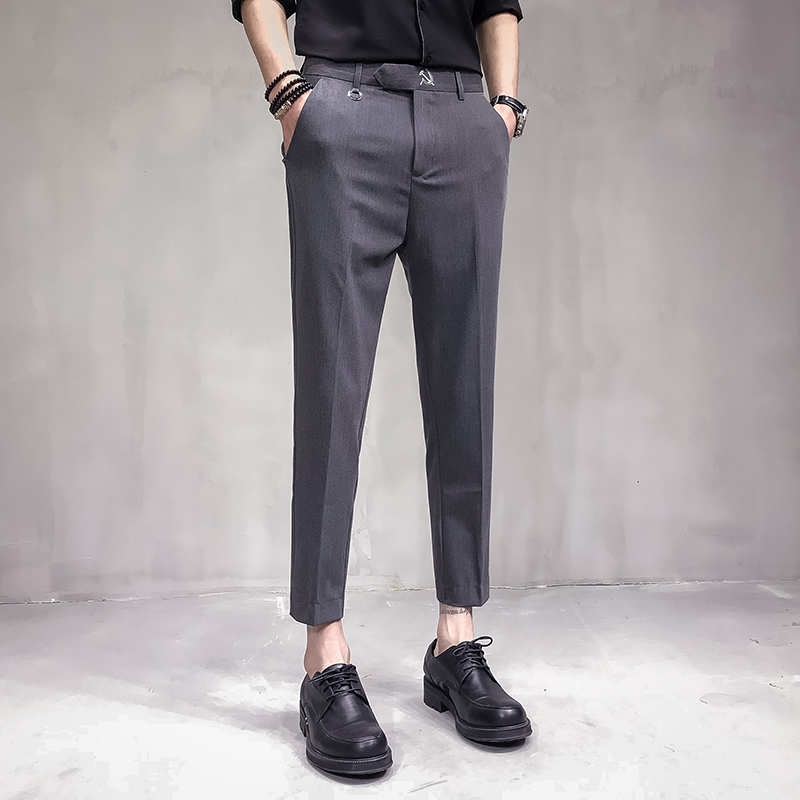 100% Wahr Terno Masculino 2019 Mann Hosen Formale Erkek Pantalon Homme Grau Mens Kleid Anzug Hose Geschäfts Hosen Männer Anzüge Hosen Elegante Verkaufsrabatt 50-70%