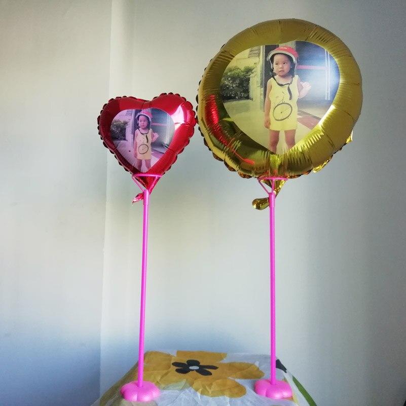 Ev ve Bahçe'ten Balonlar ve Aksesuarları'de Benzersiz Düğün/doğum günü/yıldönümü fotoğraf tasarım folyo balonlar özel baskı masa balon süslemeleri içerir 40cm sopa standları'da  Grup 1