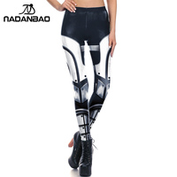 30579c3a9f81d7 NADANBAO 3D Printed Women leggings METAL Armour leggins soldier leggins  pant legging for Woman 2017 cool