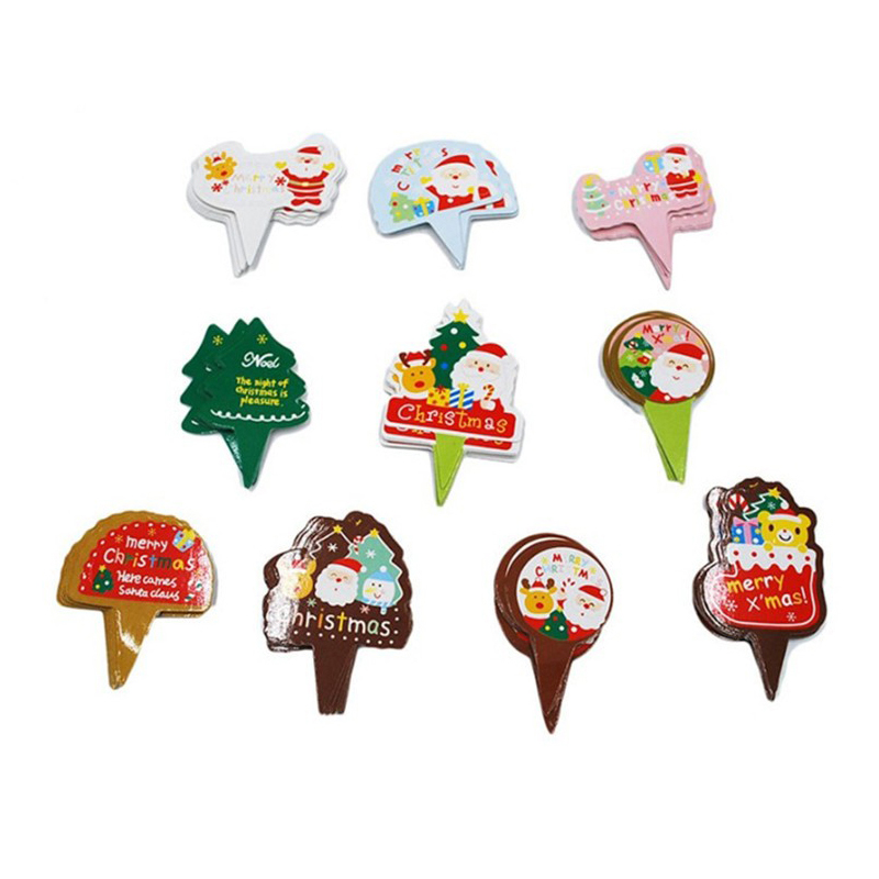 Lot of 100 christmas cupcake topper cake wrappers for Decoration stuff