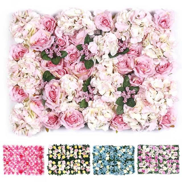 4060 Cm Romántico Seda Artificial Rose Flor Pared Boda Decoración Fiesta Hotel De Arreglo Floral