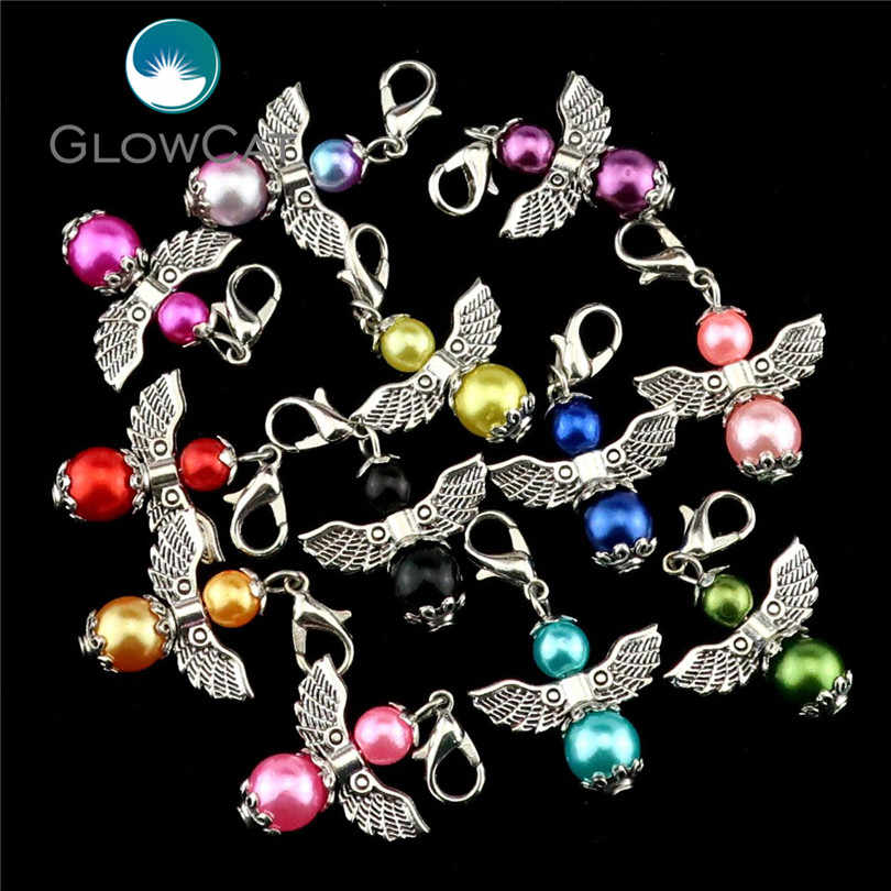 12pcs/lot Charm Guardian Angel Wings Pendant Diy Fashion Jewelry 34*22mm DIY Pendants Accessories For Jewelry 22554