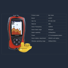 Lixada 2.4 inch LCD Wireless  Fish Finder Alarm Fish Detector Sonar Transducer Depth Locator ICE Ocean Boat