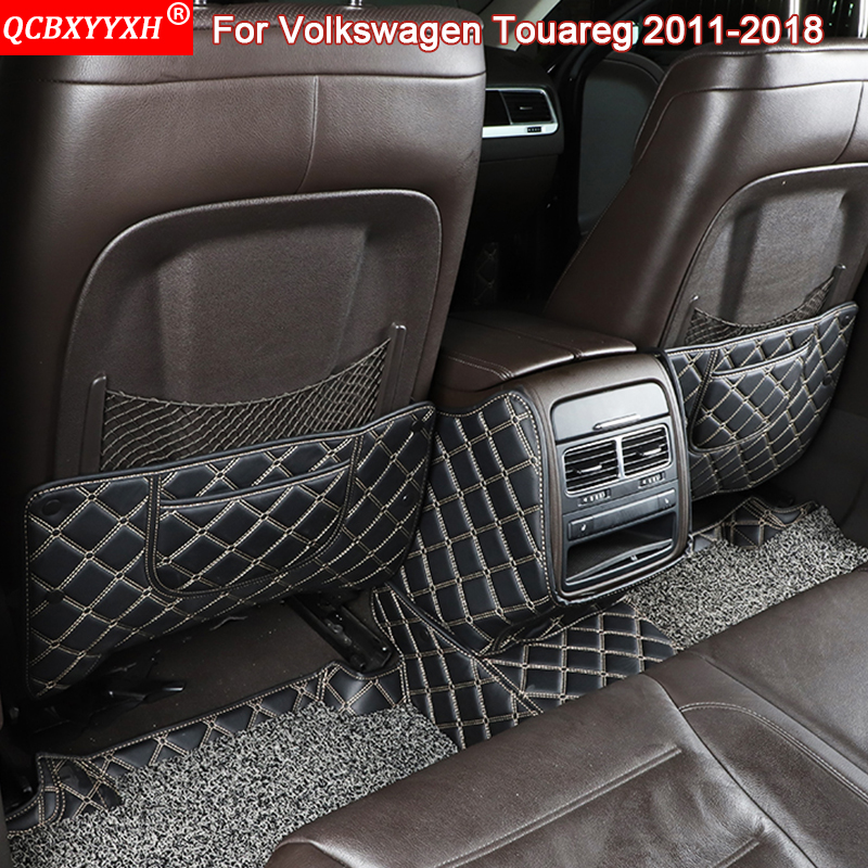 QCBXYYXH Car Styling Auto Interior Seat Protector Side Edge Protection Pad Car Stickers Anti-kick Mats For VW Touareg 2011-2018
