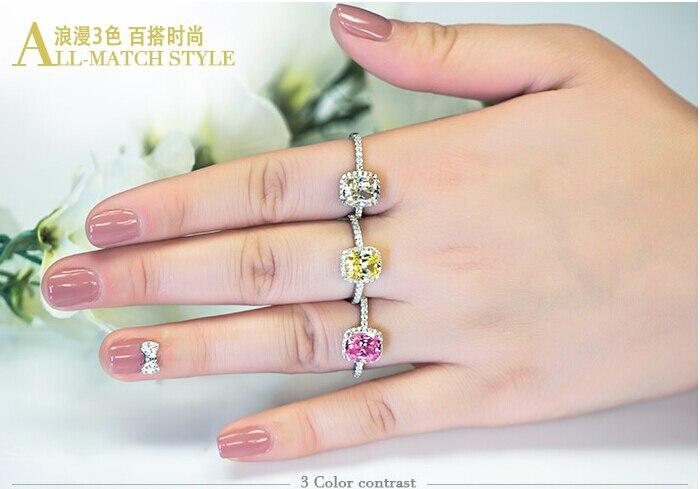 Vecalon 2016 márka divat 3 színű 5A cirkon cz gyűrű 925 ezüst - Divatékszer - Fénykép 6