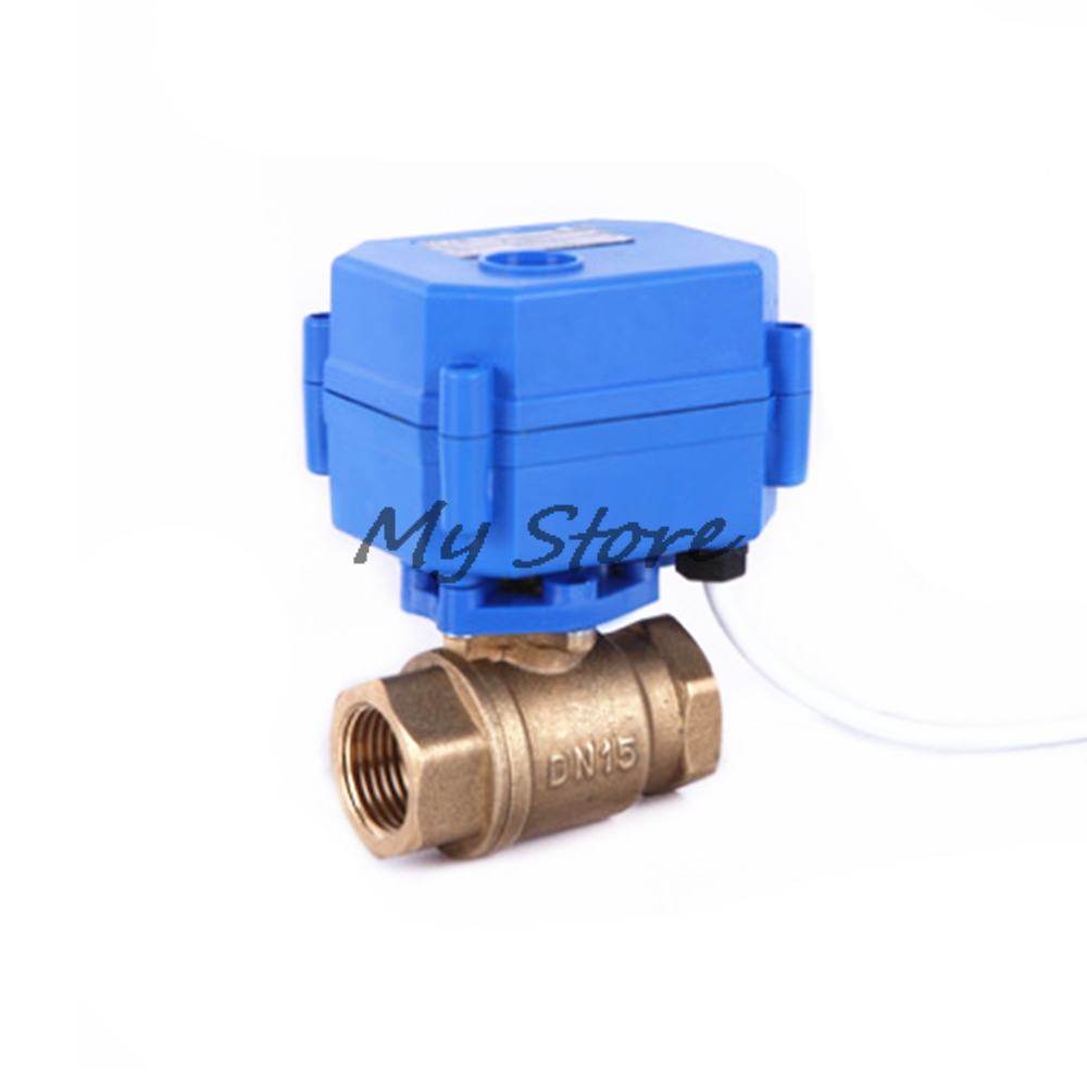 Fixed ball valve CR01 solar Electric ball valve 1/2 DN15, 2 way,  Tap water electrical magnetic valve