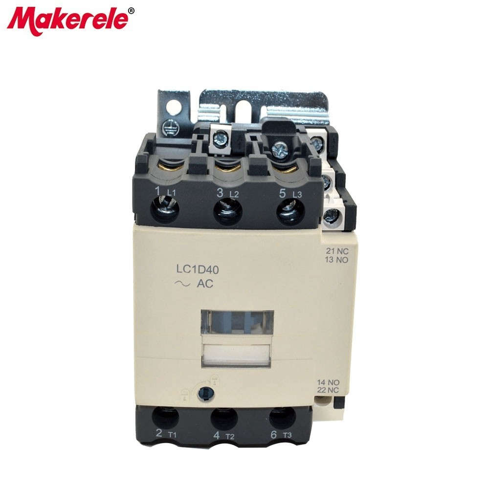 LC1-D40 M7C 3P+NO+NC Telemecanique Contactor 220v Single Phase Electrical Contactor Types With 85% Silver Contacts sayoon dc 12v contactor czwt150a contactor with switching phase small volume large load capacity long service life