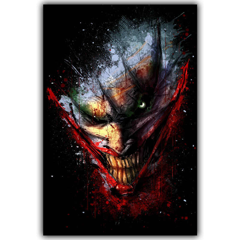 Joker Batman Movie Poster Home Decor Silk Poster Picture Print Wall Decor 30x45cm 50x75cm